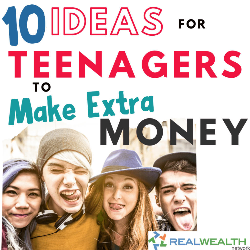 Image Highlighting 10 Ideas for Teenagers to Make Extra Money