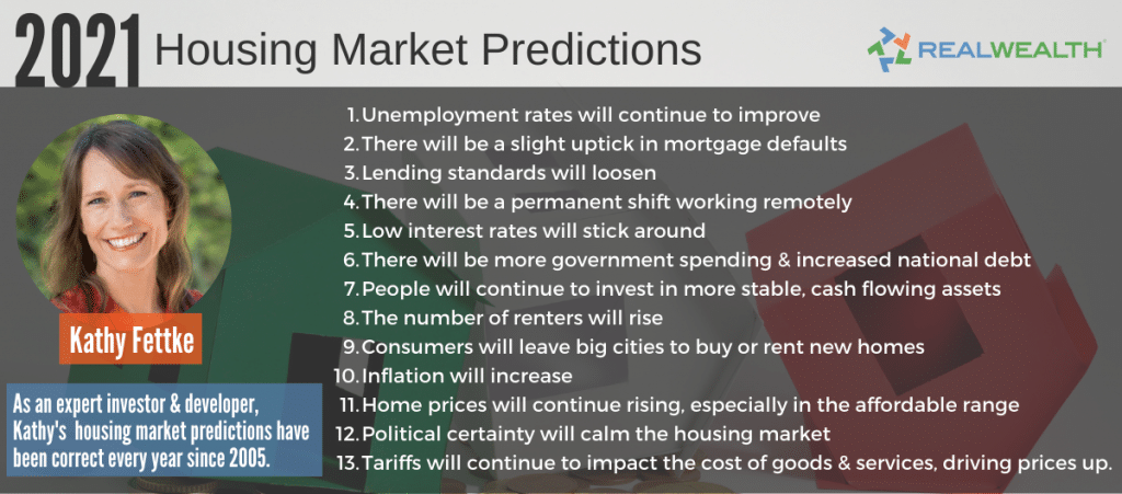 13 Nationwide Housing Market Predictions For 2021 Infographic