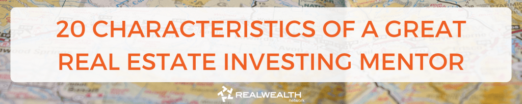 20 characteristics of a great real estate investing mentor header image