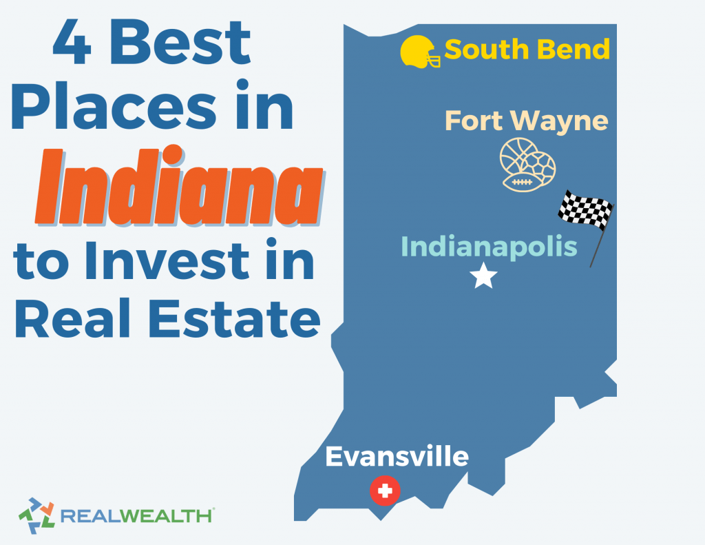 Infographic Highlighting - 4 Best Places in Indiana to Invest in Real Estate 2021