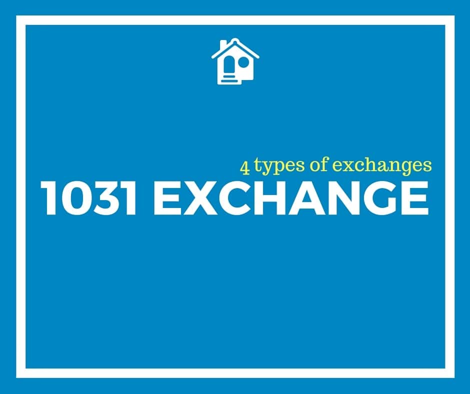 4 types of 1031 exchanges: simultaneous, delayed, construction, and reverse