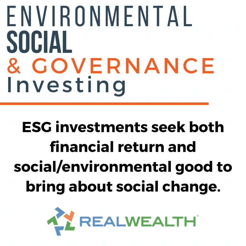 Image Highlighting Environmental Social Governance Investing 2021