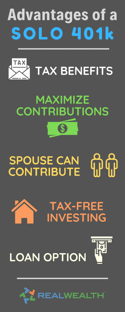 Infographic Highlighting - Advantages of a Solo 401k