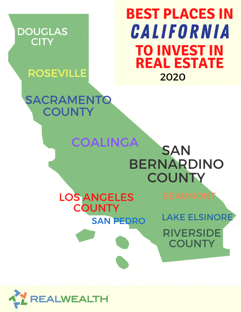 Infographic Highlighting - Best Places in California to Invest in Real Estate 2020