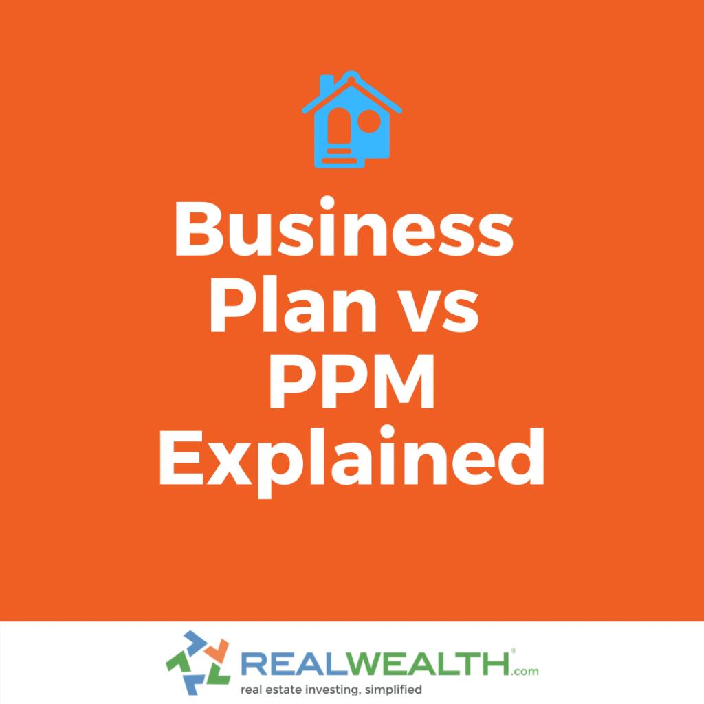 Business Plan vs PPM Explained