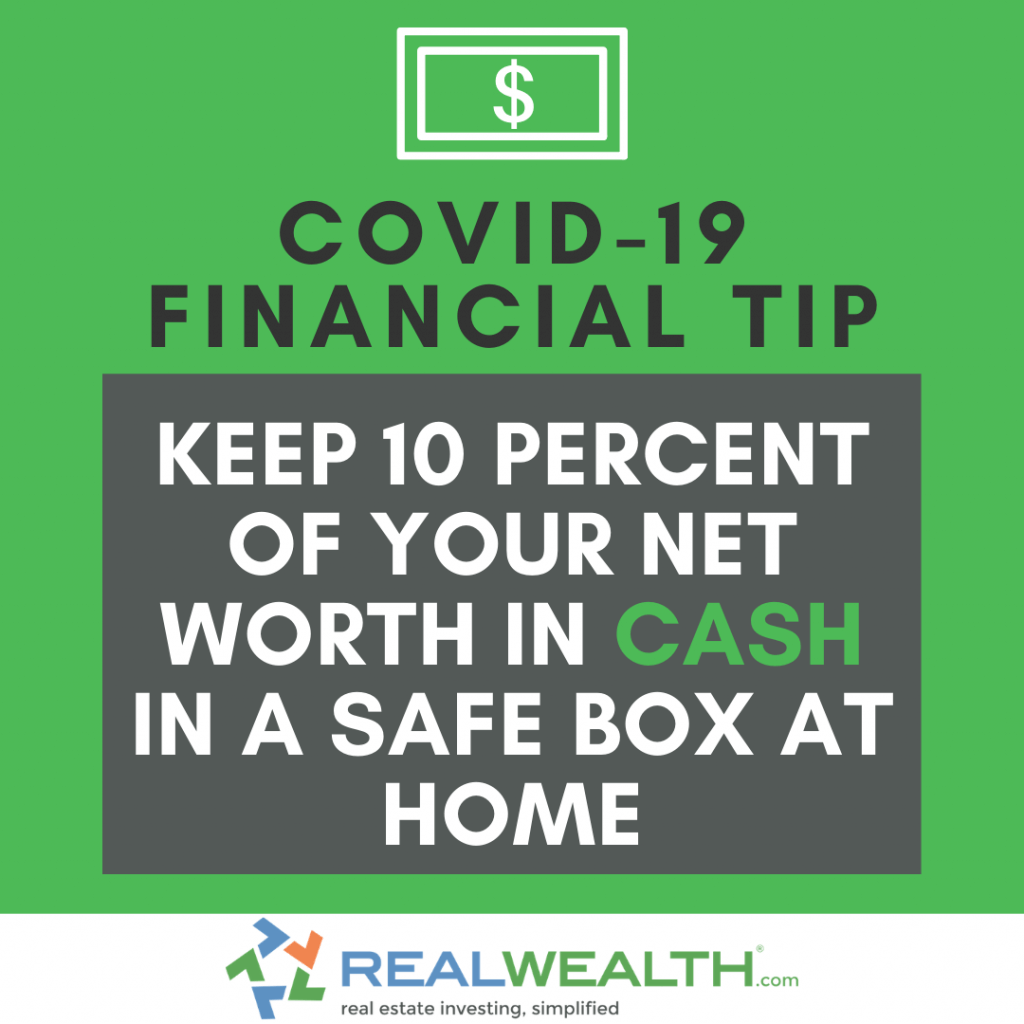 Image Highlighting COVID-19 Financial Tip-Cash in Safe Box