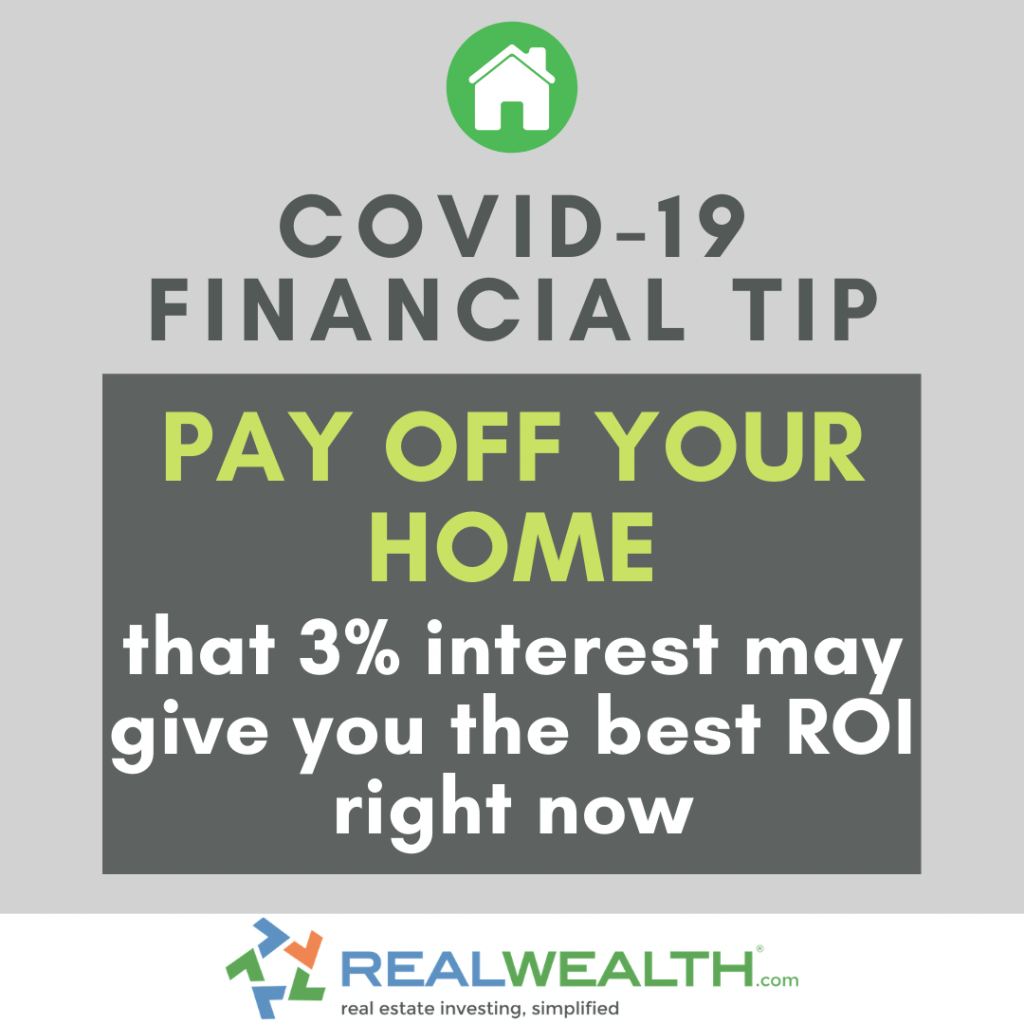 Image Highlighting COVID-19 Financial Tip-Pay Off Your Home