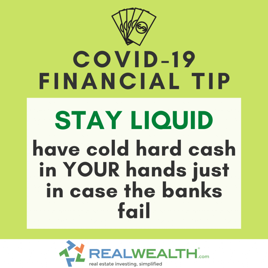 Image Highlighting COVID-19 Financial Tip-Stay Liquid