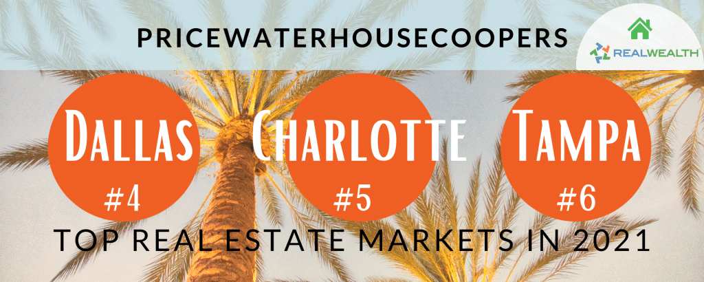 Infographic Highlighting - Dallas, Charlotte, Tampa Top Real Estate Markets 2021