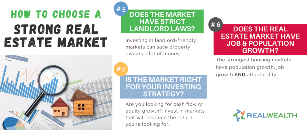 Infographic Highlighting - How To Choose a Strong Real Estate Market Questions to Ask 5-7