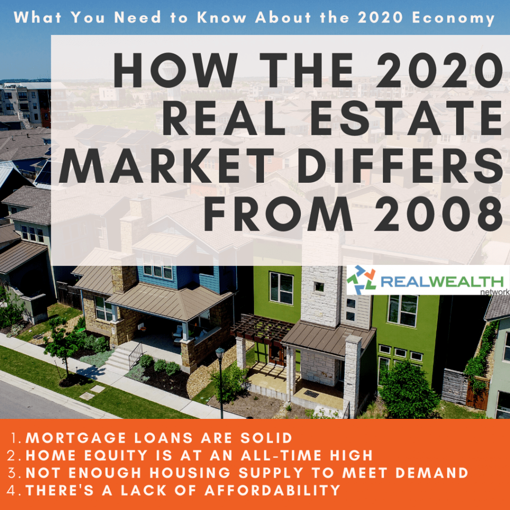 Image highlighting How the 2020 Real Estate Market Differs From 2008