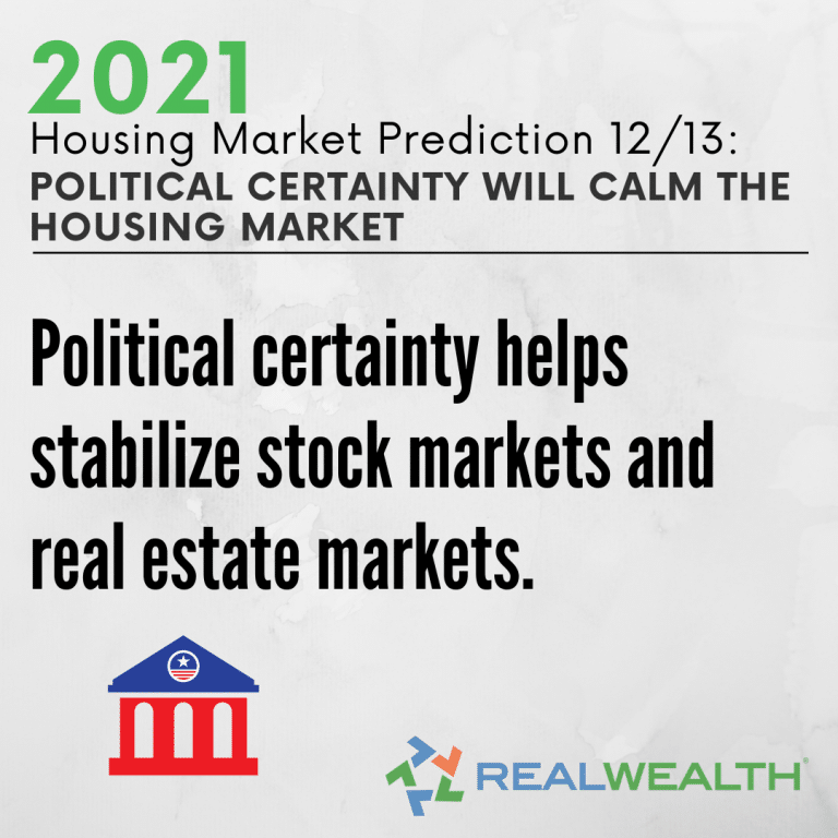 Image Highlighting - Prediction 12 Political Certainty Will Calm Housing Market