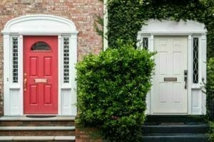 picture of red and white door for Real Estate News Podcast Episode #421
