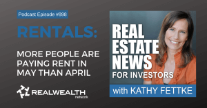 More People are Paying Rent in May than April, Real Estate News for Investors Podcast Episode #898