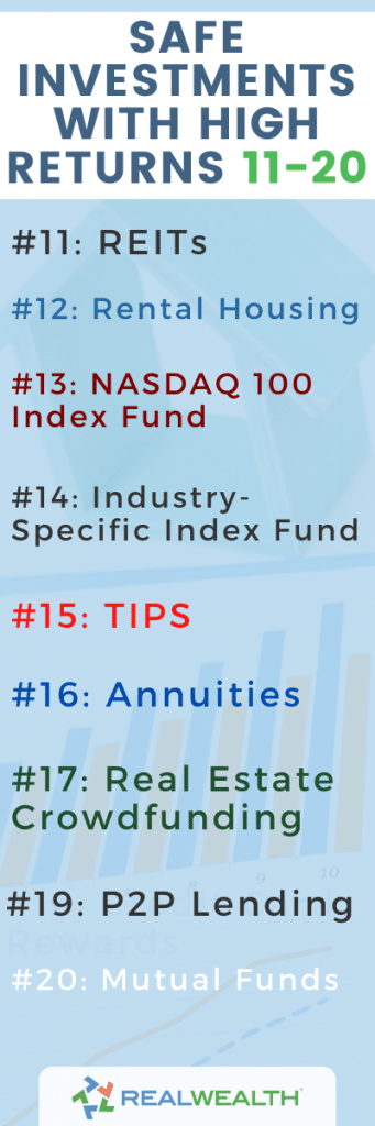 Infographic Highlighting - Safe Investments With High Returns 11 to 20