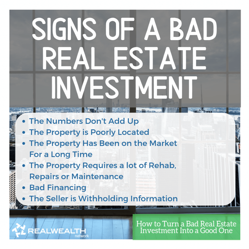 Signs of a Bad Real Estate Investment