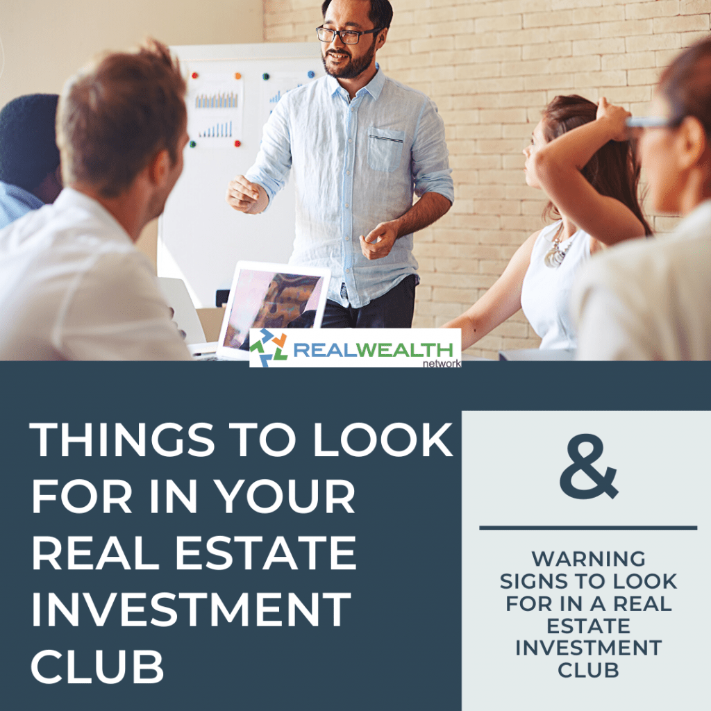 Image Highlighting Things to Look For in Your Real Estate Investment Club