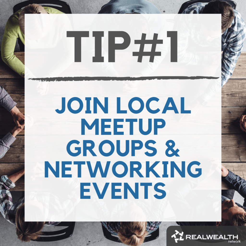 Tip 1 Join Local Meetup Groups and Networking Events image