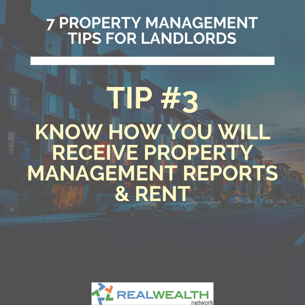 Image Highlighting Knowing How You Will Receive Property Management Reports and Rent