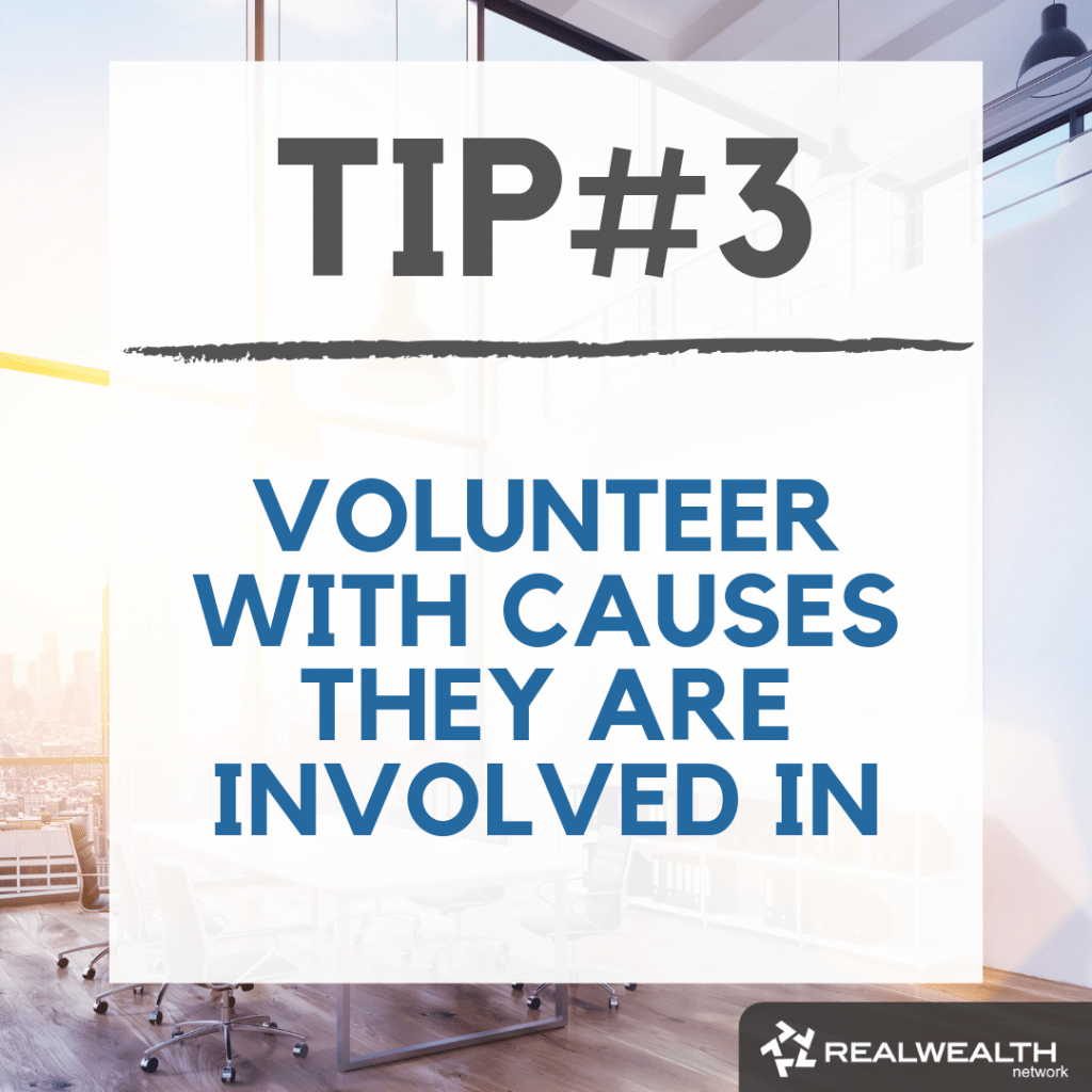 Tip 3 volunteer with causes they are involved in image