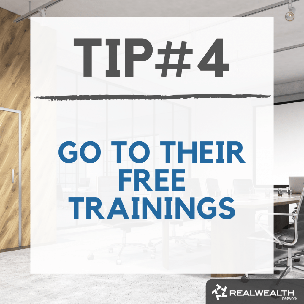 Tip 4 go to their free trainings image
