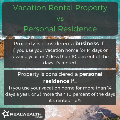 Vacation Rental Property vs Personal Residence image