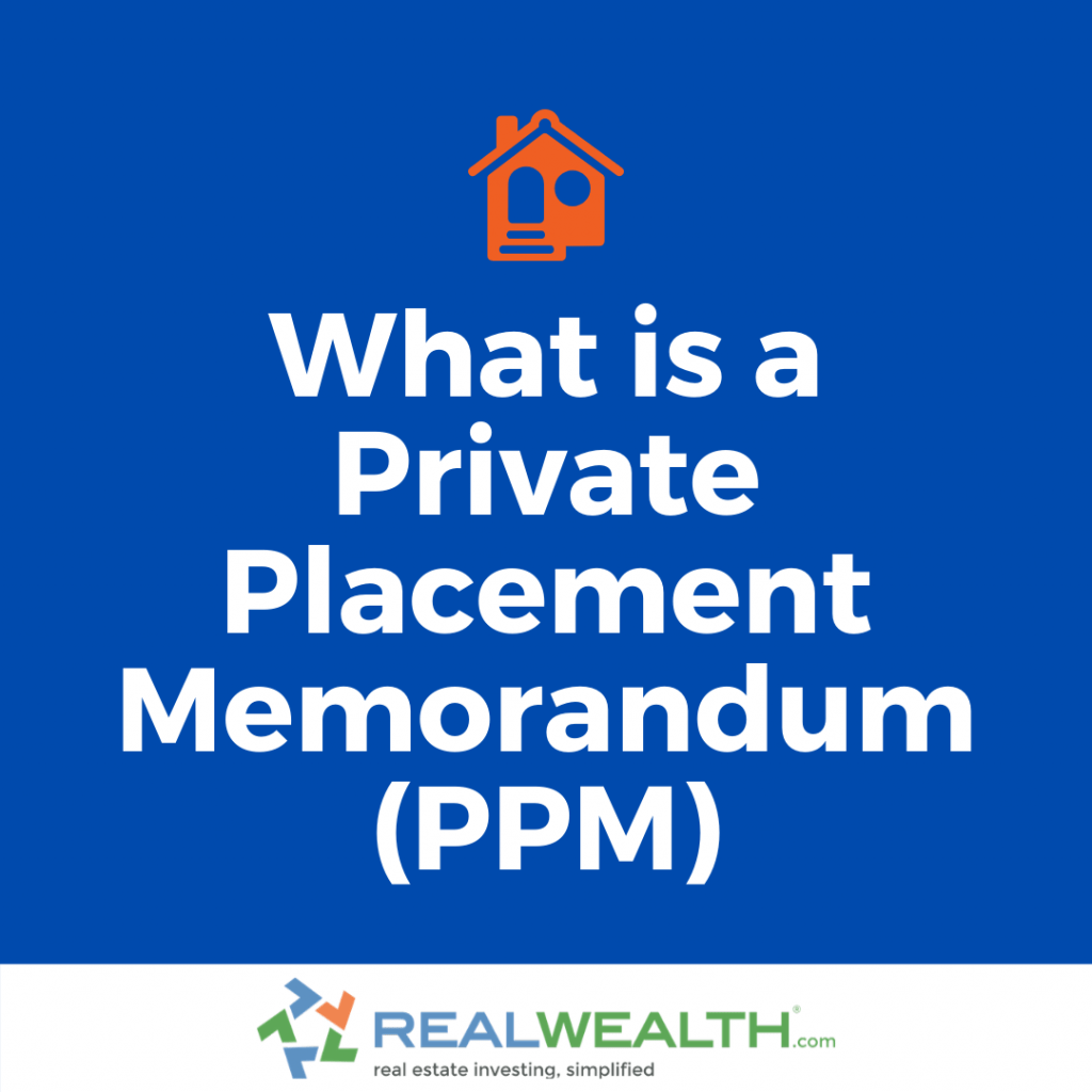 What is a Private Placement Memorandum (PPM)