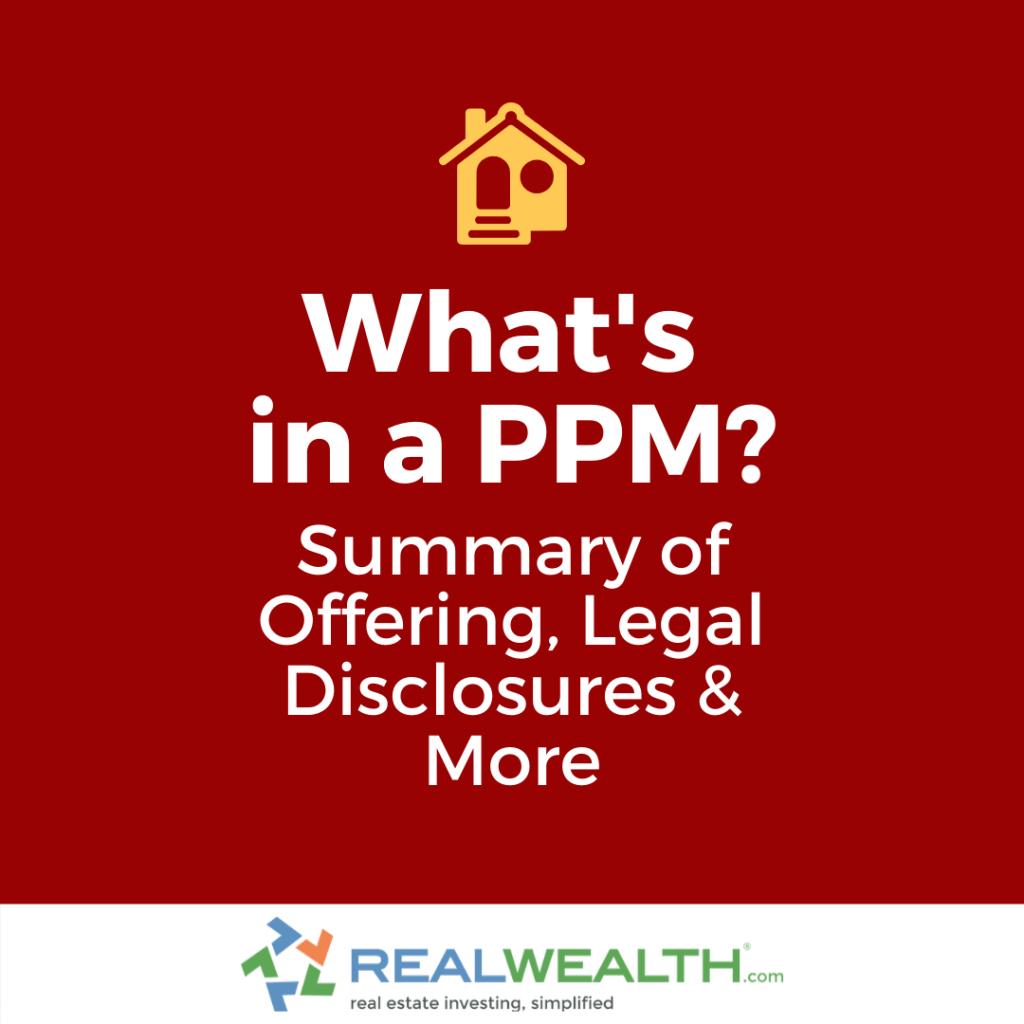 What's in a Private Placement Memorandum (PPM)