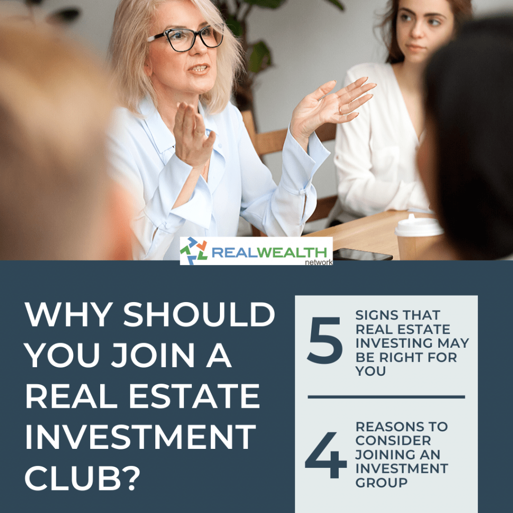 Image Highlighting Why Should You Join a Real Estate Investment Club