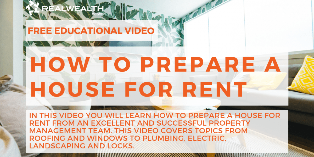 How to Prepare a House for Rent