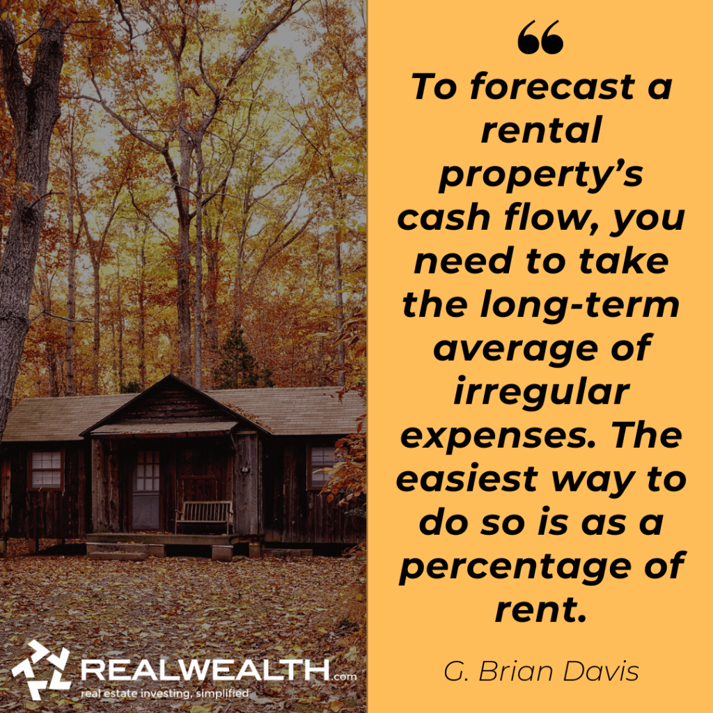 Quote from article about rental property cash flow.